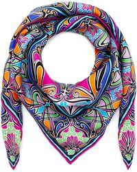 Liberty - New Ianthe 70x70 Silk Scarf - Lyst
