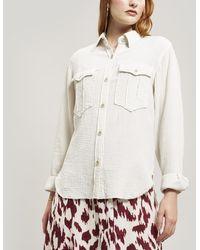 Étoile Isabel Marant Naria Western Pocket Shirt - White
