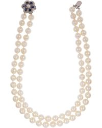 Kojis - Double Layered Pearl Necklace - Lyst
