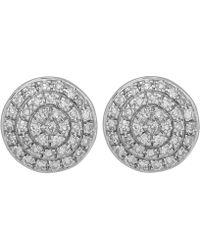 Monica Vinader - Gold Vermeil Fiji Diamond Button Stud Earrings - Lyst