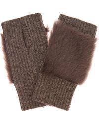 Karl Donoghue - Cashmere Shearling Fingerless Gloves - Lyst