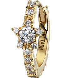 "Maria Tash - 5/16"" Diamond Star Eternity Hoop Earring - Lyst"