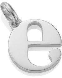 Monica Vinader - Silver Alphabet Pendant E - Lyst