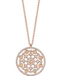 Astley Clarke Rose Gold Icon Nova Large Opal Pendant Necklace