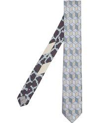 Dries Van Noten - Narrow Geometric Print Silk Tie - Lyst