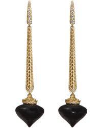 Annoushka - Touch Wood Gold Ebony Drop Earrings - Lyst