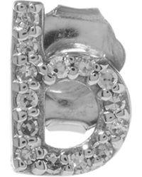 KC Designs - Rose Gold Diamond B Single Stud Earring - Lyst