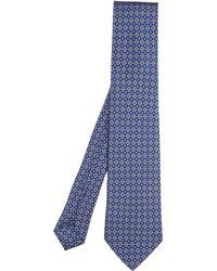 Liberty - Checkerboard Printed Silk Tie - Lyst