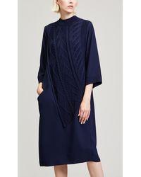 Crea Concept - Cable Knit Maxi Dress - Lyst