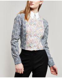 Paul Smith - Contrast Liberty Print Cotton Shirt - Lyst