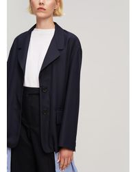 Erika Cavallini Semi Couture - Suit Blazer With Shirting Insert - Lyst