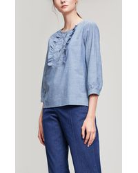 A.P.C. - Cleo Frill Blouse - Lyst