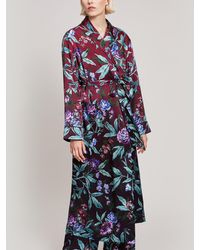 Liberty - Desert Rose Silk Satin Long Robe - Lyst