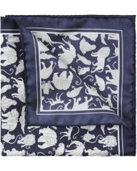 Liberty - Arthur's Ark Printed Silk Pocket Square - Lyst