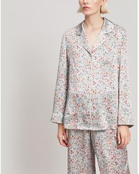 Liberty - Delilah Silk Satin Long Pyjama Set - Lyst
