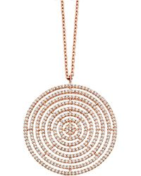 Astley Clarke - Rose Gold Large Icon Aura Pendant Necklace - Lyst
