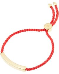 Monica Vinader - Gold-plated Coral Cord Linear Friendship Bracelet - Lyst