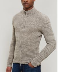 NN07 - Einar Wool-blend Zip-up Cardigan - Lyst