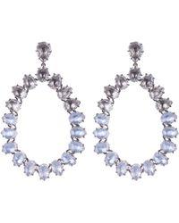 Larkspur & Hawk - Silver Caterina Large White Quartz Frame Earrings - Lyst