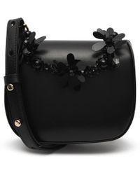 7df9506ac5 Simone Rocha - Mini Leather Floral Beaded Cross-body Bag - Lyst