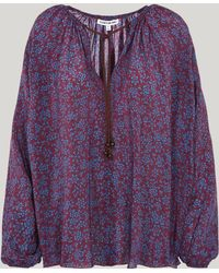 Elizabeth and James - Chance Printed Silk Blouse - Lyst