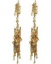 Alex Monroe - Gold-plated Nest Structure Statement Drop Earrings - Lyst