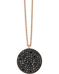 Astley Clarke - Rose Gold Icon Black Diamond Pendant Necklace - Lyst