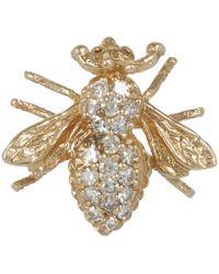 Kojis - Gold Diamond Insect Brooch - Lyst
