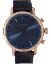 Kronaby - Carat Leather Strap Watch - Lyst