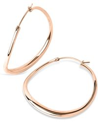 Dinny Hall - Large Rose Gold-plated Wave Hoop Earrings - Lyst