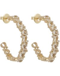 Suzanne Kalan - Gold White Topaz Diamond Earrings - Lyst