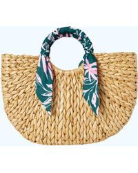 Lilly Pulitzer - Monkey Business Straw Tote Bag - Lyst
