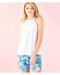 cef49ed4582277 Lyst - Forever 21 Rise Of Dawn Open-shoulder Crop Top in White