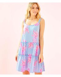 1d5cda088f2bfd Lilly Pulitzer Lilly Pulitzer Loro Tiered Shift Dress in Blue - Lyst