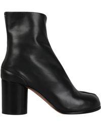 Maison Margiela - Tabi Leather Boots - Lyst