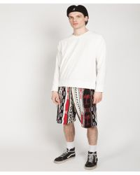 Laneus - Cotton Jacquard Shorts - Lyst