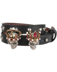 Alexander McQueen - Queen & King Leather Bracelet - Lyst