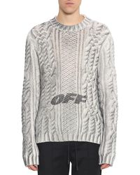 Off-White c/o Virgil Abloh - Spray Graphic Wool Sweater - Lyst