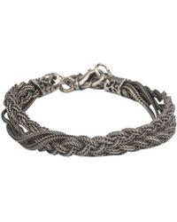 Emanuele Bicocchi - Silver Tresst Bracelet - Lyst