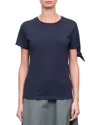 J.W.Anderson - Navy Single-knot Cotton T-shirt - Lyst