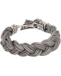 Emanuele Bicocchi - Silver Large Braided Bracelet - Lyst