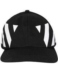 Off-White c o Virgil Abloh - Striped Baseball Cap - Lyst a82d2d5962e2