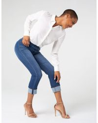 Liverpool Jeans Company - Chloe Crop Wide Cuff High Performance Denim - Lyst