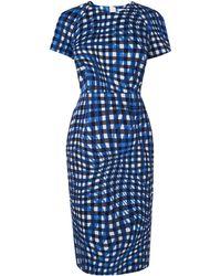 L.K.Bennett - Kaleigh Blue Print Dress - Lyst