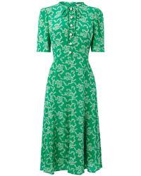 L.K.Bennett - Montana Green Silk Dress - Lyst
