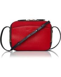 L.K.Bennett - Mariel Red And Navy Shoulder Bag - Lyst