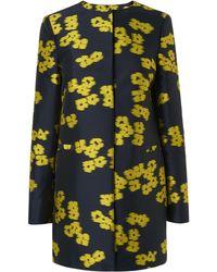 L.K.Bennett - Sana Blue Yellow Jacket - Lyst