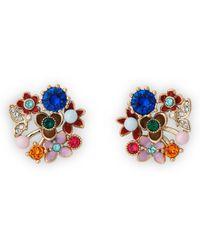 L.K.Bennett - Martha Crystal Pearl Earrings - Lyst