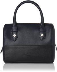 L.K.Bennett - Melanie Blue Black Leather Shoulder Bag - Lyst