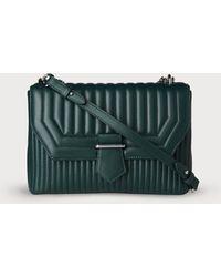 L.K.Bennett - Maeve Green Leather Shoulder Bag - Lyst